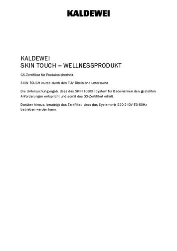GS Certificate Skin Touch