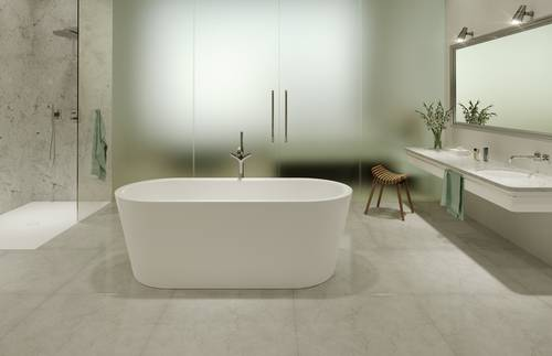 2.	Use light-coloured bathroom solutions and indirect light sources