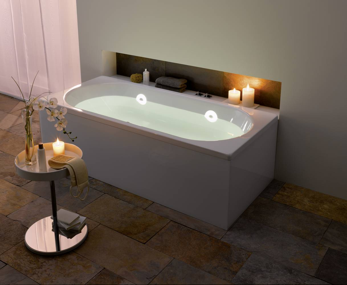 mood lighting for an emotional bathing experience. Black Bedroom Furniture Sets. Home Design Ideas