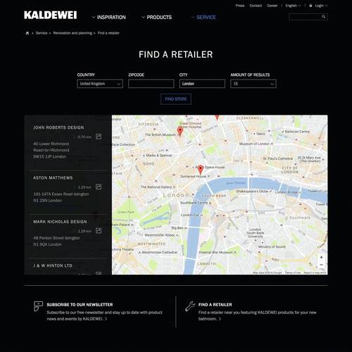 5_Kaldewei_Fitter and Dealer Search