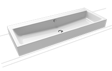 PURO countertop twin washbasin