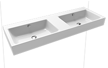 PURO wall-mounted twin washbasin