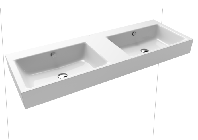 PURO WALL-HUNG DOUBLE WASHBASIN