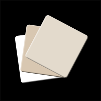 Cartes de couleur kit de 3 beige / blanc